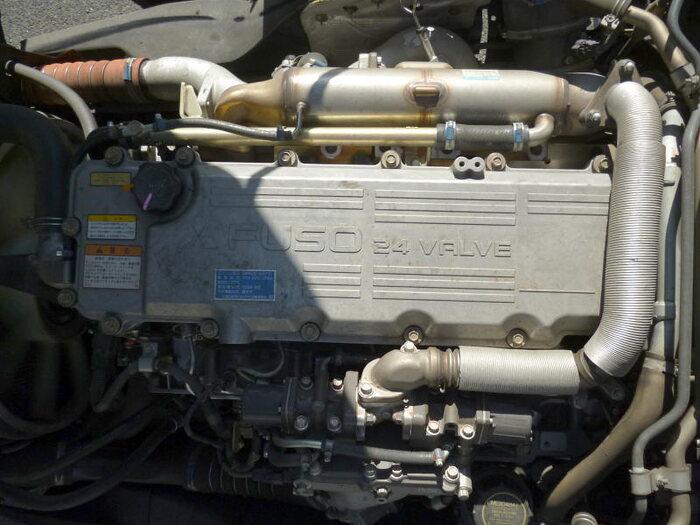 中古 車輌重機運搬中型 三菱ファイター トラック H19 PDG-FK61F