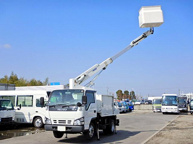 いすゞ エルフ 小型 高所・建柱車 高所作業車 PB-NKR81AN 画像1