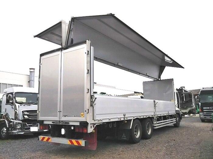 三菱 スーパーグレート 大型 ウイング 床鉄板 エアサス 画像3