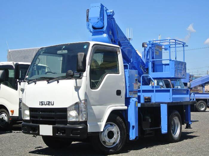 いすゞ エルフ 小型 高所・建柱車 高所作業車 BDG-NKR85N|トラック 左前画像 トラックバンク掲載