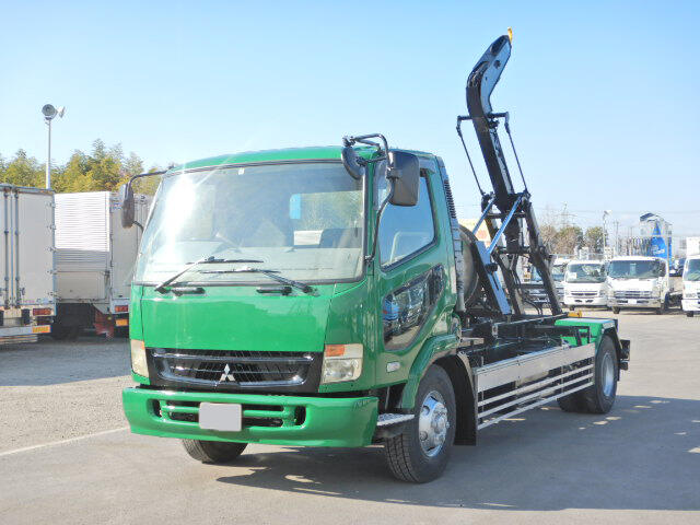 三菱 ファイター 中型 アームロール ツインホイスト PDG-FK71R|トラック 左前画像 トラックバンク掲載