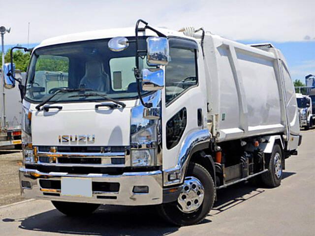 いすゞ フォワード 中型 パッカー車 プレス式 PKG-FSR34S2|トラック 左前画像 トラックバンク掲載