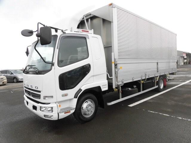 三菱 ファイター 中型 ウイング パワーゲート ベッド トラック 左前画像 トラックバンク掲載