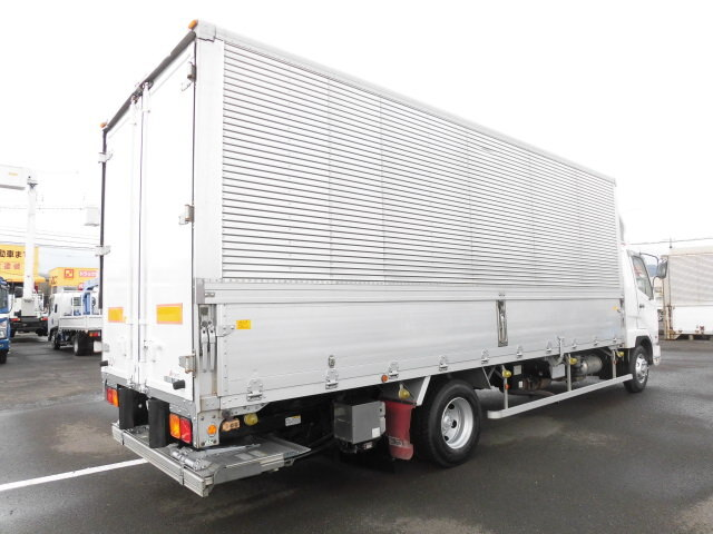 三菱 ファイター 中型 ウイング パワーゲート ベッド トラック 右後画像 リトラス掲載