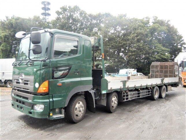 日野 プロフィア 大型 車輌重機運搬 ウインチ ベッド|トラック 左前画像 トラックバンク掲載