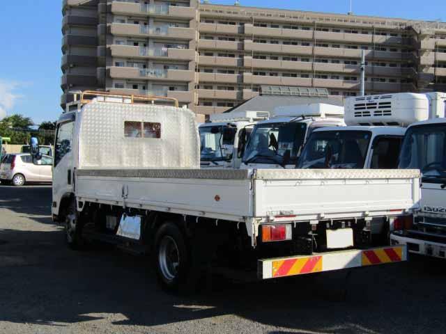 いすゞ エルフ 小型 平ボディ 床鉄板 SKG-NPR85YN|トラック 右後画像 リトラス掲載