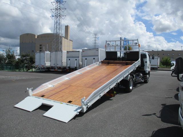三菱 ファイター 中型 車輌重機運搬 ウインチ ベッド トラック 右後画像 リトラス掲載