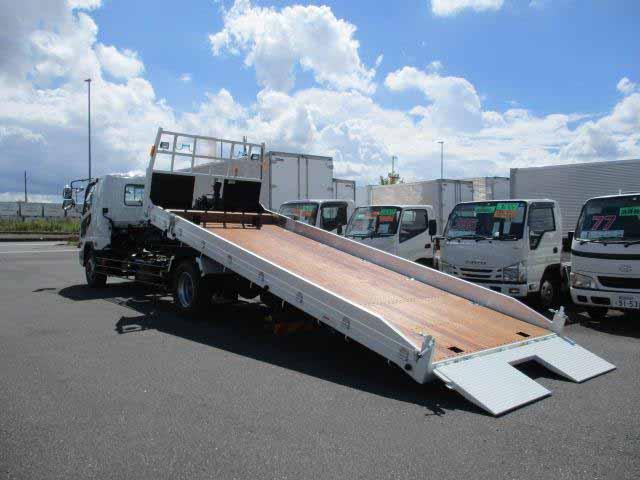 三菱 ファイター 中型 車輌重機運搬 ウインチ ベッド 運転席 トラック 画像 トラック王国掲載