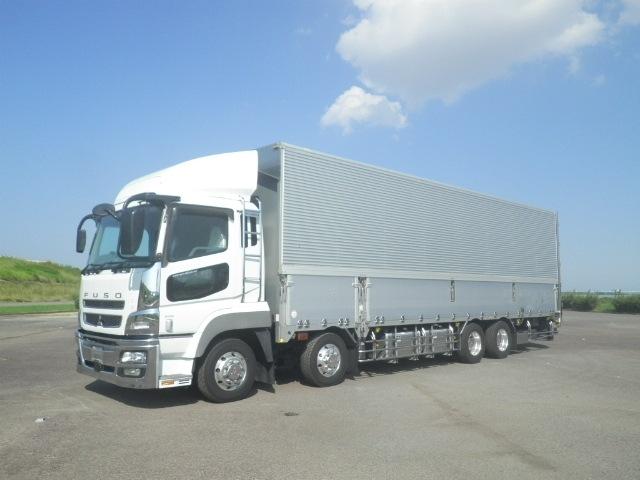 三菱 スーパーグレート 大型 ウイング ハイルーフ エアサス トラック 左前画像 トラックバンク掲載