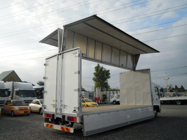 日野 レンジャー 中型 ウイング エアサス ベッド|トラック 右後画像 リトラス掲載
