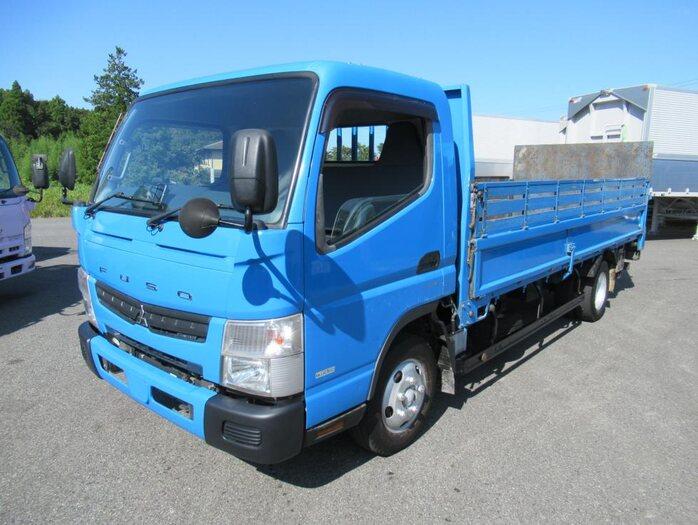 三菱 キャンター 小型 平ボディ パワーゲート SKG-FEB50|トラック 左前画像 トラックバンク掲載