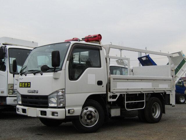 いすゞ エルフ 小型 平ボディ パワーゲート 床鉄板|トラック 左前画像 トラックバンク掲載