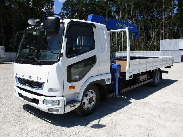 三菱 ファイター 中型 クレーン付 5段 ラジコン|トラック 左前画像 トラックバンク掲載