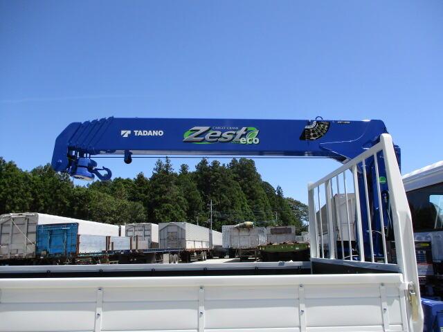三菱 ファイター 中型 クレーン付 5段 ラジコン|積載 2.1t トラック 画像 ステアリンク掲載