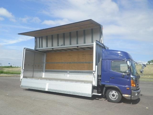 日野 レンジャー 中型 ウイング エアサス ベッド|型式 TKG-FD7JLAG トラック 画像 栗山自動車掲載