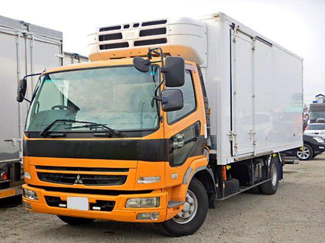 三菱 ファイター 中型 冷凍冷蔵 中温 パワーゲート|トラック 左前画像 トラックバンク掲載