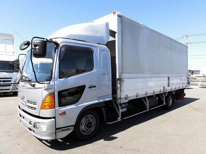 日野 レンジャー 中型 ウイング ベッド BDG-FD8JLWA|トラック 左前画像 トラックバンク掲載