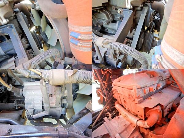 三菱 ファイター 中型 クレーン付 4段 フックイン|シフト AT トラック 画像 ステアリンク掲載