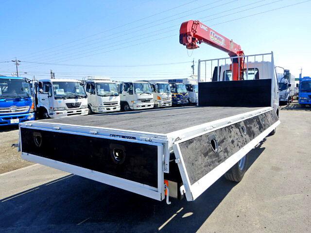 三菱 ファイター 中型 クレーン付 4段 フックイン|トラック 右後画像 リトラス掲載