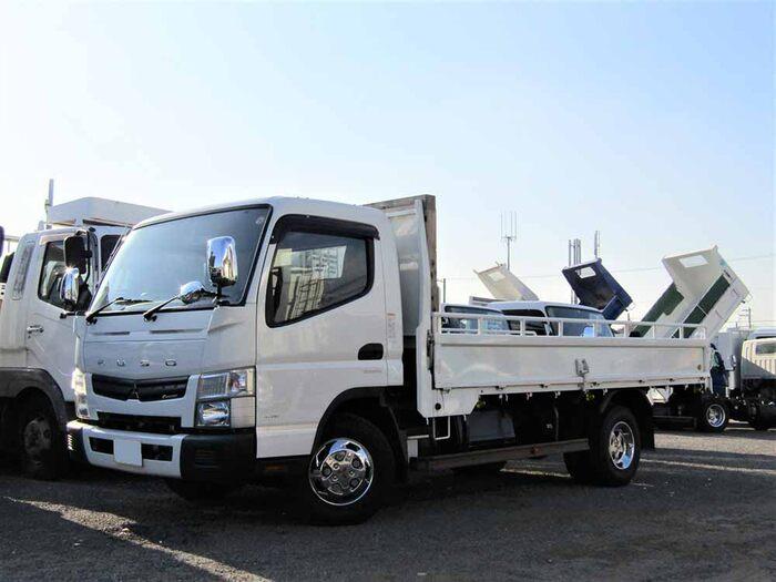 三菱 キャンター 小型 平ボディ TKG-FEB50 H25 トラック 左前画像 トラックバンク掲載