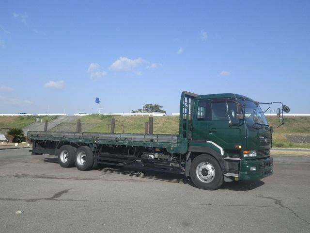 日産UD クオン 大型 平ボディ 床鉄板 エアサス|トラック 右後画像 リトラス掲載