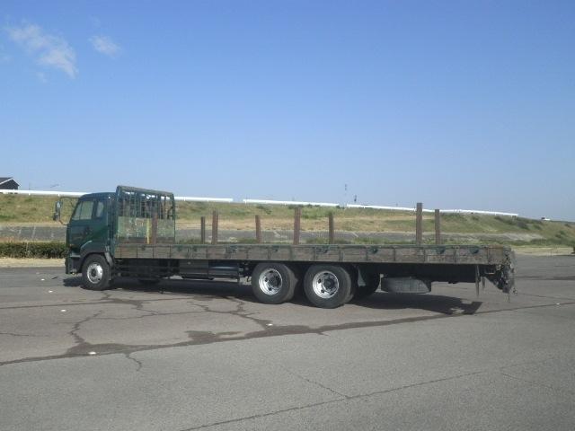 日産UD クオン 大型 平ボディ 床鉄板 エアサス|トラック 背面・荷台画像 トラック市掲載