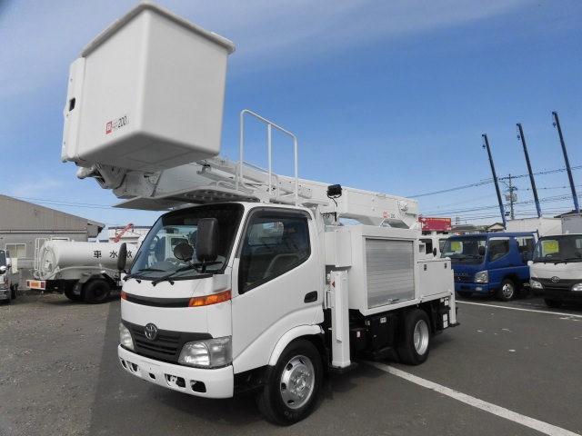 トヨタ ダイナ 小型 高所・建柱車 高所作業車 電工仕様|画像1