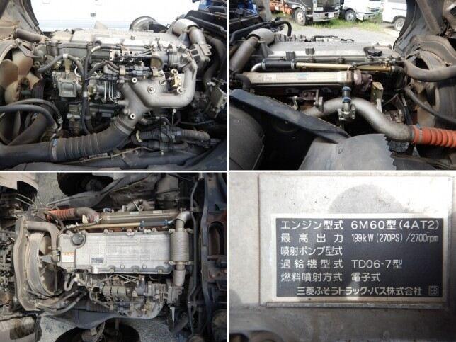 車輌重機運搬中型 三菱ファイター トラック H19 PJ-FK62FZ