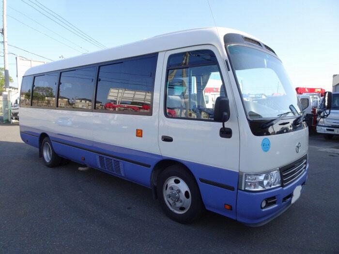 トヨタ コースター 小型 バス マイクロバス SDG-XZB50|トラック 左前画像 トラックバンク掲載