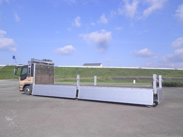 三菱 スーパーグレート 大型 平ボディ アルミブロック エアサス 画像6