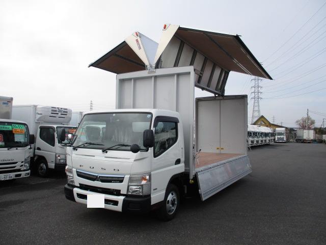 三菱 キャンター 小型 ウイング TPG-FEB50 H30|トラック 左前画像 トラックバンク掲載