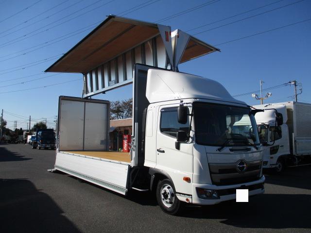 日野 レンジャー 中型 ウイング パワーゲート エアサス 型式 2KG-FD2ABA トラック 画像 栗山自動車掲載