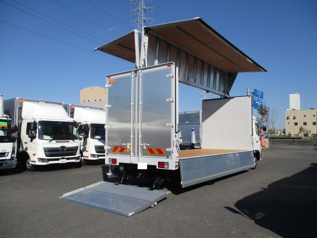 日野 レンジャー 中型 ウイング パワーゲート エアサス トラック 右後画像 リトラス掲載