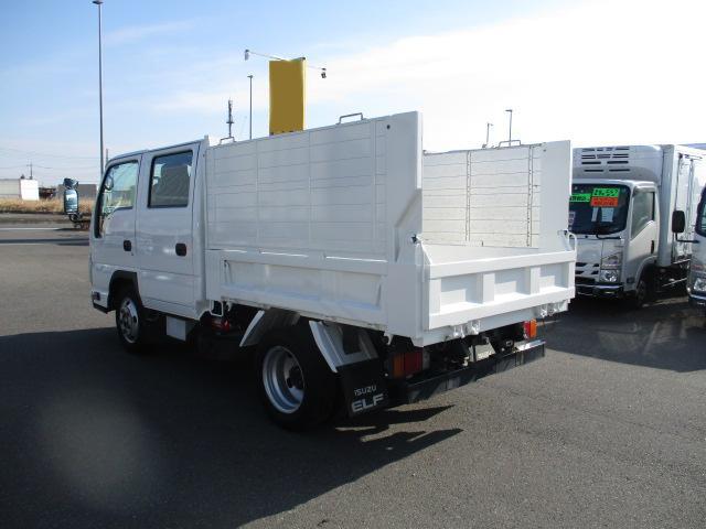いすゞ エルフ 小型 ダンプ 土砂禁 Wキャブ|型式 BKG-NJR85AD トラック 画像 栗山自動車掲載