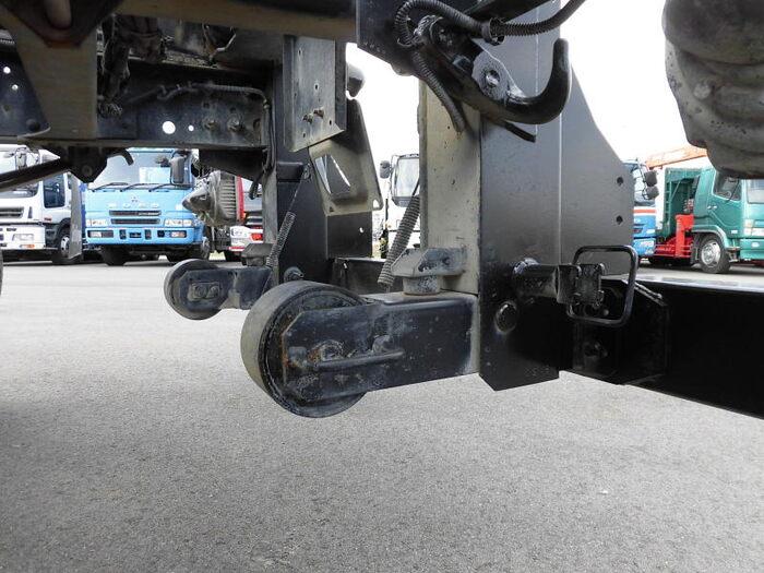 日野 レンジャー 中型 アームロール ツインホイスト TKG-FC9JEAA|フロントガラス トラック 画像 トラック王国掲載