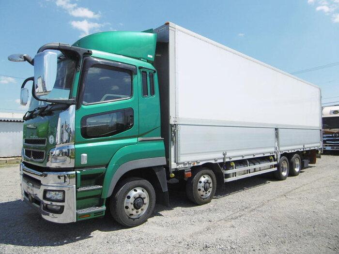 三菱 スーパーグレート 大型 ウイング エアサス ベッド|トラック 左前画像 トラックバンク掲載