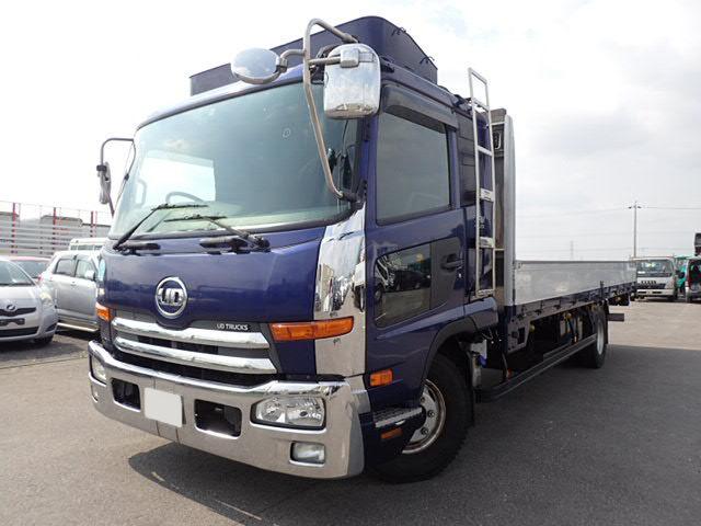 日産UD コンドル 中型 平ボディ 床鉄板 アルミブロック|トラック 左前画像 トラックバンク掲載