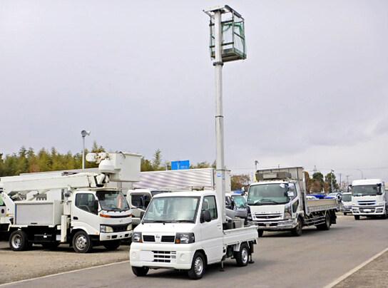 日産 クリッパー 軽 高所・建柱車 高所作業車 GBD-U71T|トラック 左前画像 トラックバンク掲載