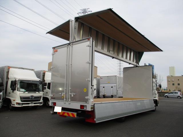 日野 レンジャー 中型 ウイング ベッド 2KG-FE2ABA トラック 右後画像 リトラス掲載