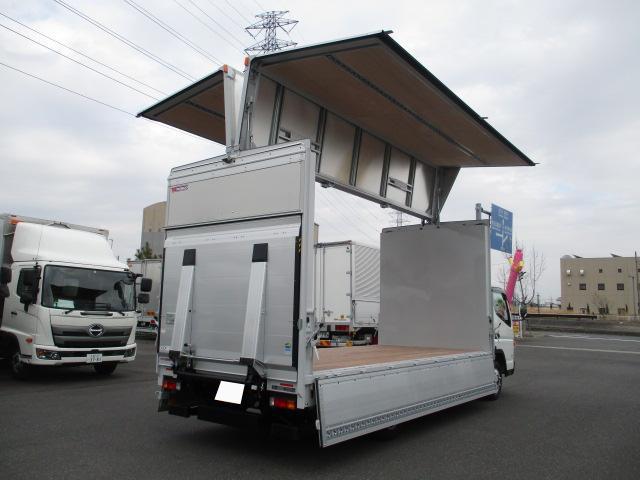 三菱 キャンター 小型 ウイング パワーゲート TPG-FEB50 トラック 右後画像 リトラス掲載