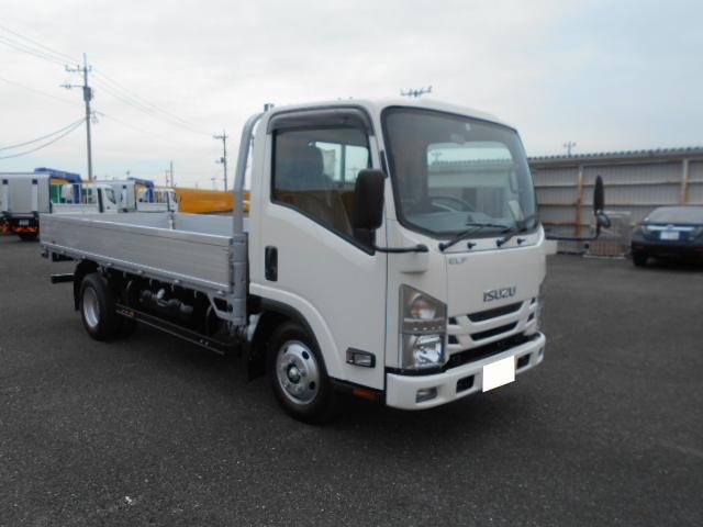 いすゞ エルフ 小型 平ボディ アルミブロック TRG-NMR85AR|フロントガラス トラック 画像 トラック王国掲載