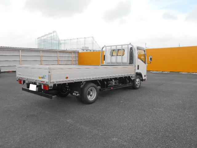 いすゞ エルフ 小型 平ボディ アルミブロック TRG-NPR85AR トラック 右後画像 リトラス掲載