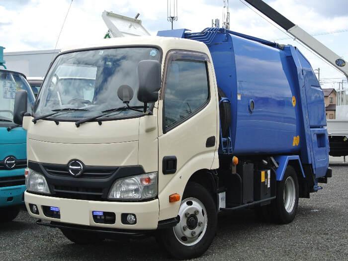 日野 デュトロ 小型 パッカー車 プレス式 SKG-XZU600X トラック 左前画像 トラックバンク掲載