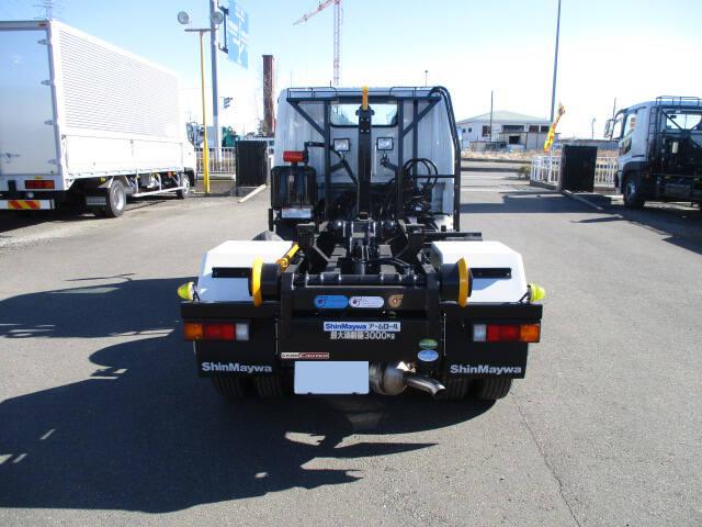 三菱 キャンター 小型 アームロール ツインホイスト TPG-FBA50|トラック 背面・荷台画像 トラック市掲載