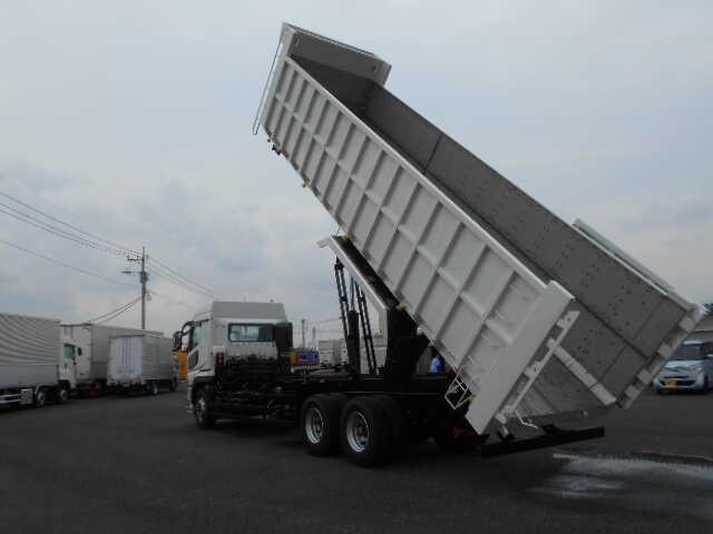 三菱 スーパーグレート 大型 ダンプ 土砂禁 ステンレス張り|トラック 背面・荷台画像 トラック市掲載