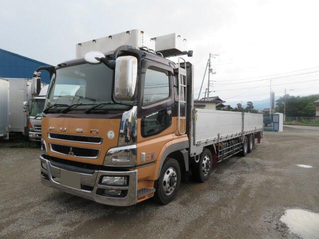三菱 スーパーグレート 大型 平ボディ アルミブロック エアサス|トラック 左前画像 トラックバンク掲載