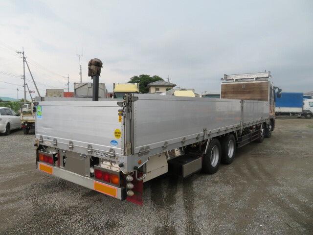 三菱 スーパーグレート 大型 平ボディ アルミブロック エアサス|トラック 右後画像 リトラス掲載