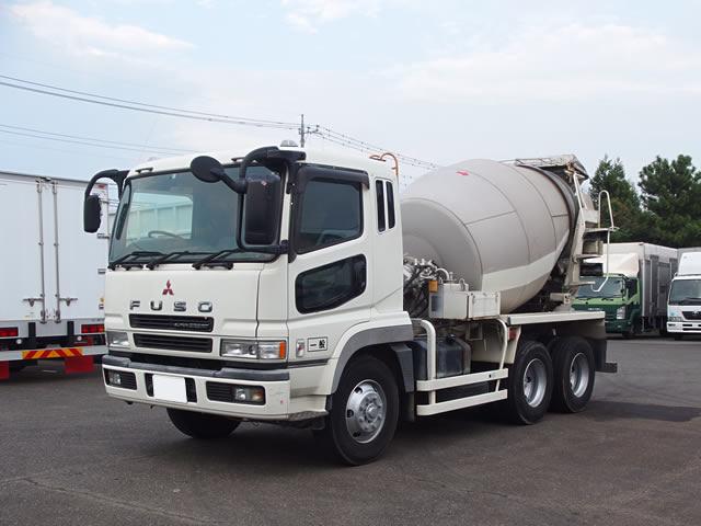 三菱 スーパーグレート 大型 ミキサー・ポンプ ベッド KL-FV50JJXD|トラック 左前画像 トラックバンク掲載