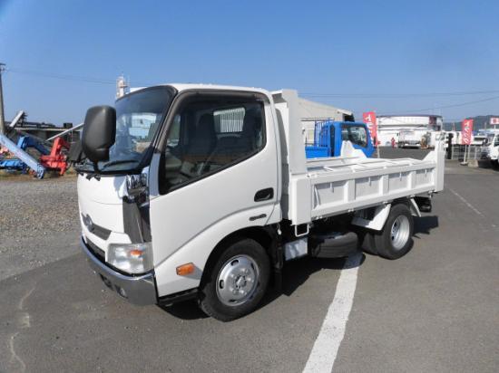 日野 デュトロ 小型 ダンプ 強化 TKG-XZU620T|トラック 左前画像 トラックバンク掲載