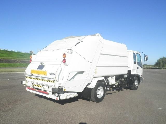 いすゞ フォワード 中型 パッカー車 プレス式 ベッド トラック 右後画像 リトラス掲載